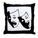 Drama Masks Throw Pillow
