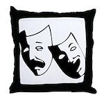Drama Masks Throw Pillow