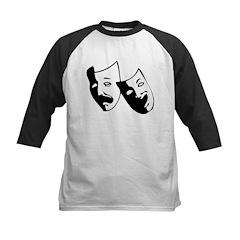 Drama Masks Kids Baseball Jersey