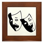 Drama Masks Framed Tile