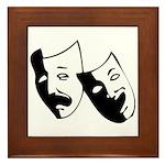 Drama Masks Framed Tile