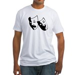 Drama Masks Fitted T-Shirt