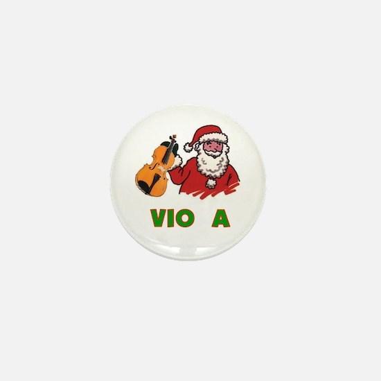Santa Noel Viola Mini Button