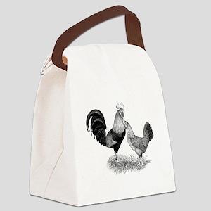 Leghorns Brown Chickens Canvas Lunch Bag