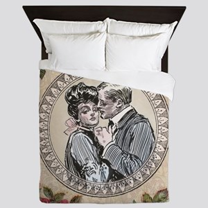 Gibson Girl Couple in Love Vintage Victorian Queen