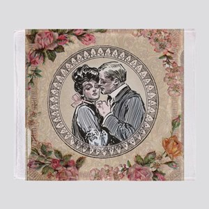 Gibson Girl Couple in Love Vintage Victorian Throw