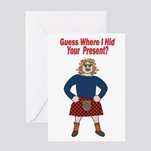 Sexy Scotsman Greeting Cards