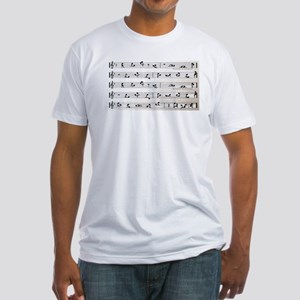 Kama Sutra Music Notes Fitted T-Shirt