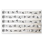 Kama Sutra Music Notes Rectangle Sticker
