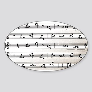 Kama Sutra Music Notes Oval Sticker