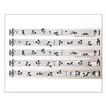 Kama Sutra Music Notes Small Poster