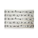 Kama Sutra Music Notes Rectangle Magnet