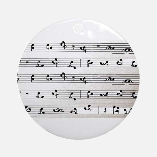 Kama Sutra Music Notes Ornament (Round)