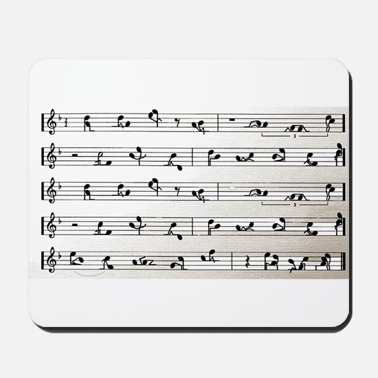 Kama Sutra Music Notes Mousepad