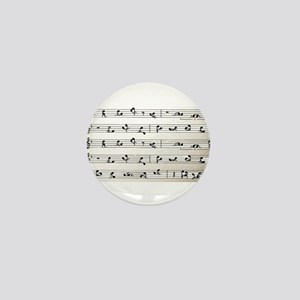 Kama Sutra Music Notes Mini Button