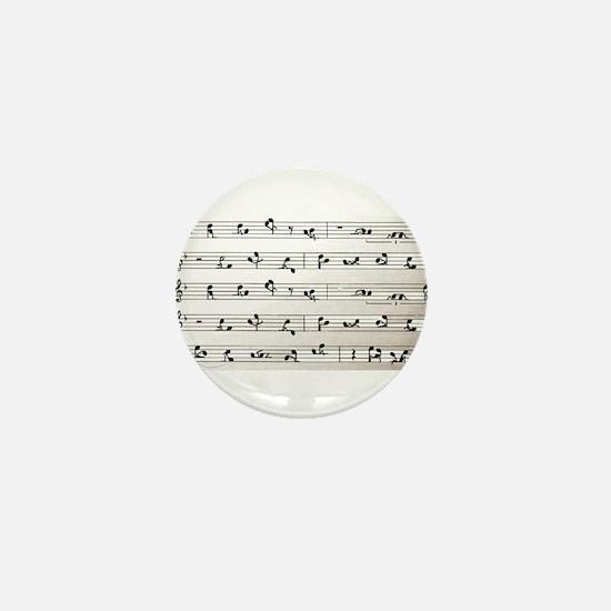 Kama Sutra Music Notes Mini Button