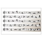 Kama Sutra Music Notes Large Poster