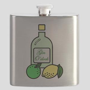 Gin O'clock Flask