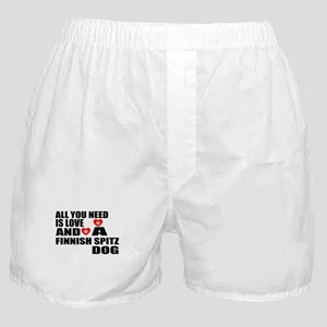 All You Need Is Love Finnish Spitz Do Boxer Shorts