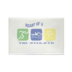 HEART OF A TRI ATHLETE Rectangle Magnet (100 pack)