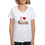 I love Muskrats Women's V-Neck T-Shirt