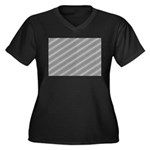 Optical Illusion Women's Plus Size V-Neck Dark T-S