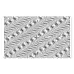 Optical Illusion Rectangle Sticker