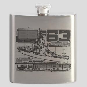 Battleship Missouri Flask