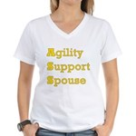Agility Support Spouse Women's V-Neck T-Shirt