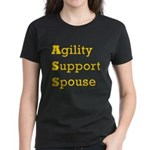 Agility Support Spouse Women's Dark T-Shirt