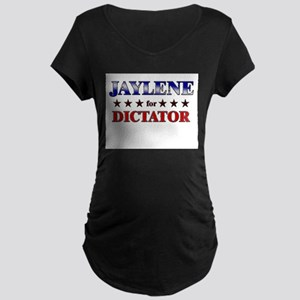 JAYLENE for dictator Maternity Dark T-Shirt