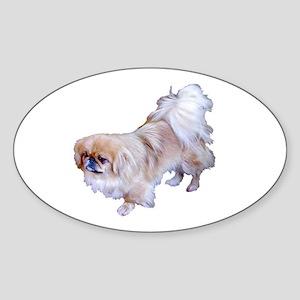 Pekingese Dog Oval Sticker