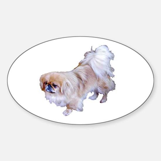 Pekingese Dog Oval Decal