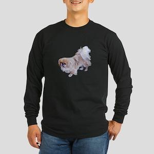 Pekingese Dog Long Sleeve Dark T-Shirt