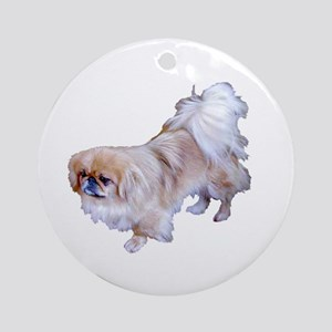 Pekingese Dog Ornament (Round)
