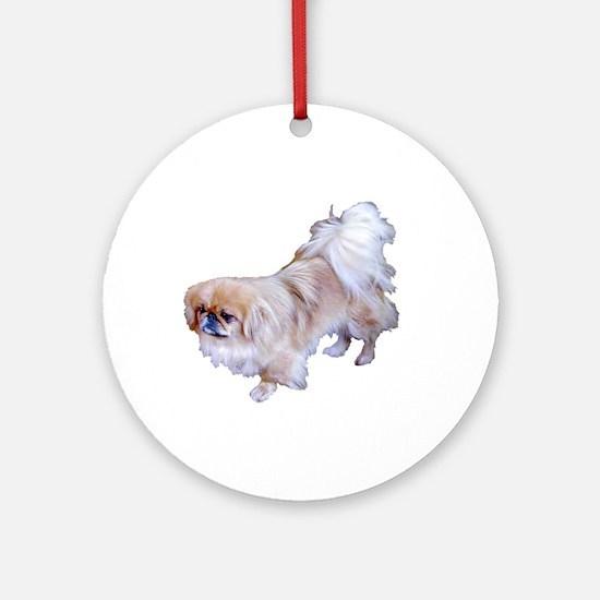Pekingese Dog Ornament (Round)