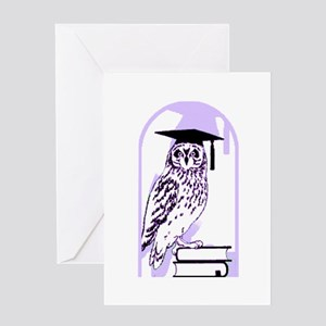 Smart Owl 6 Greeting Card