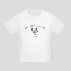 Baby's First Hanukkah 2007 Toddler T-Shirt