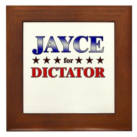JAYCE for dictator Framed Tile