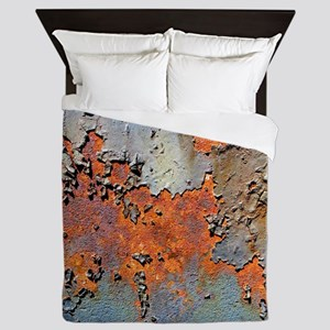 Rusted and Peeling texture Queen Duvet