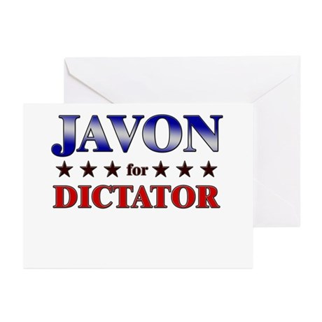 JAVON for dictator Greeting Cards (Pk of 20)