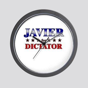 JAVIER for dictator Wall Clock