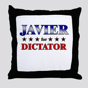 JAVIER for dictator Throw Pillow