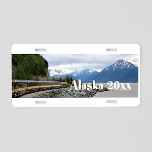 Alaska Train Photo Souvenir Aluminum License Plate