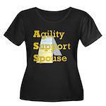 Agility Support Spouse Women's Plus Size Scoop Nec