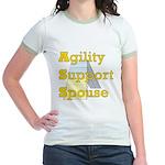 Agility Support Spouse Jr. Ringer T-Shirt