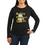 Agility Support Spouse Women's Long Sleeve Dark T-
