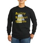 Agility Support Spouse Long Sleeve Dark T-Shirt