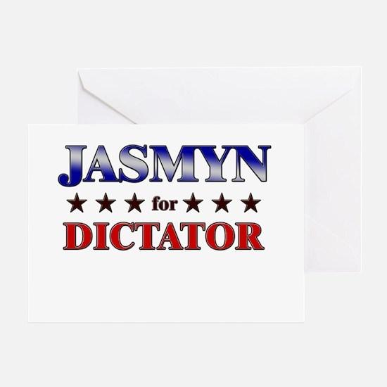 JASMYN for dictator Greeting Card