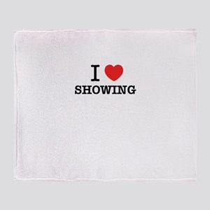 I Love SHOWING Throw Blanket